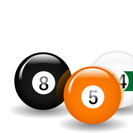 Pool ball illustration. Available in jpeg and eps8. Vector