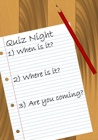 kwis: Quiz Night design. Verkrijgbaar in JPEG en eps8 formaat.
