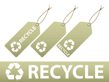 Set of recycle labels. Available in both jpeg and eps8 formats.