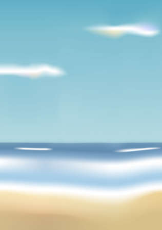 Illustration of a beach. Available in jpeg and eps8 formats.