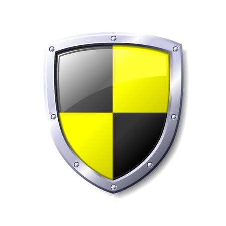 Escudo amarillo y negro. Disponible en los formatos jpeg y eps8. Vectores