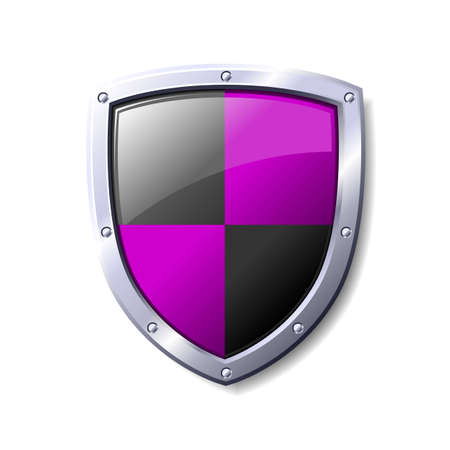 Purple and black shield. Available in jpeg and eps8 formats.