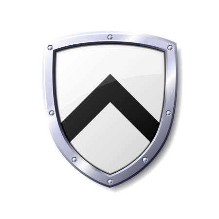 Glossy black and white shield. Available in jpeg and eps8 formats.