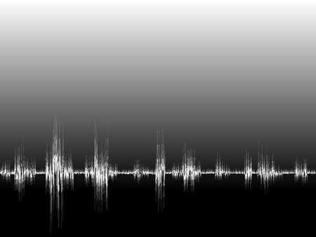 Ilustraci�n de una onda sonora. Disponible en los formatos JPEG y EPS8.
