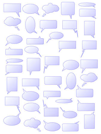 babble: Set of speech bubbles. Available in jpeg and eps8 formats.