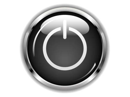 Ilustraci�n de un bot�n en espera. Disponible en los formatos jpeg y eps8.
