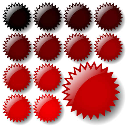 Set of red star icons. Available in jpeg and eps8 formats. Illustration