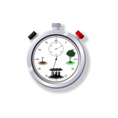 Illustration of an Eco Stopwatch. Available in both jpeg and eps8 formats.