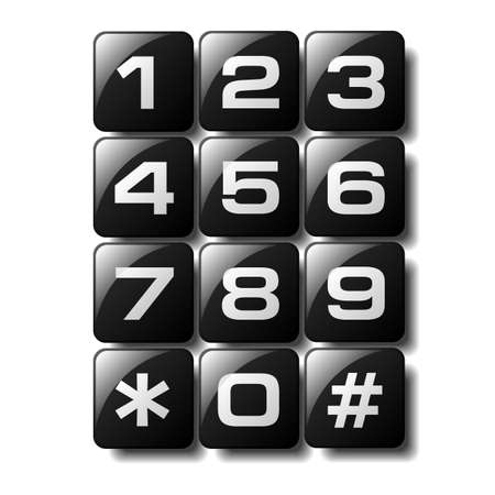 Telephone keypad design available in both jpeg and eps8 format. Vector