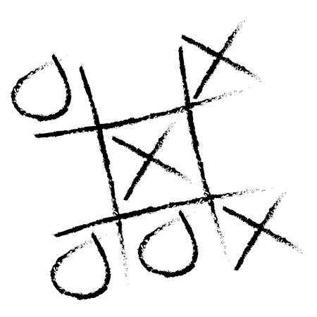 Illustration of a tic tac toe game. Available in jpeg and eps8 formats. Ilustração
