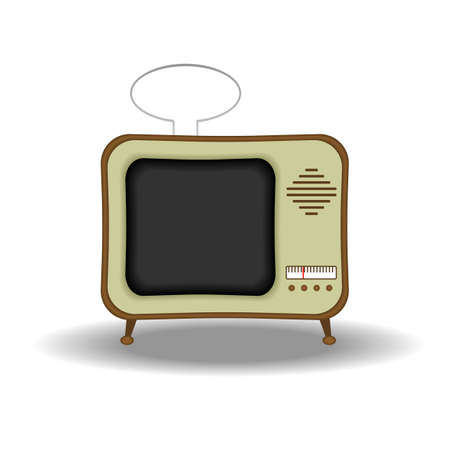Illustration of an old fashioned tv set. Available in both jpeg and eps8 formats. Stock Vector - 5548699
