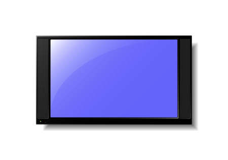 """""""flat screen"""": Illustration of a flat screen TV. Available in eps8 and jpeg formats."""