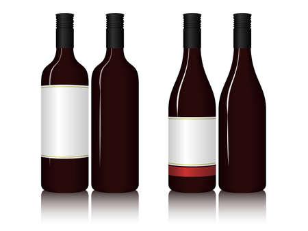 Ilustraci�n de botellas de vino. Disponible en los formatos JPEG y EPS8. Vectores