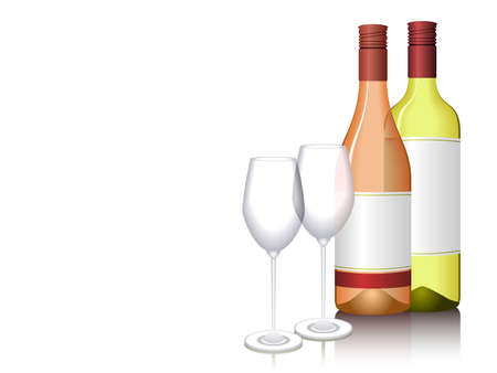 Illustration of wine bottles. Available in jpeg and eps8 formats. Ilustração