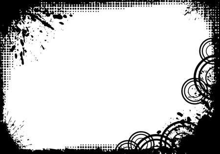 Dise�o de marco de grunge. Disponible en los formatos joeg y eps8.