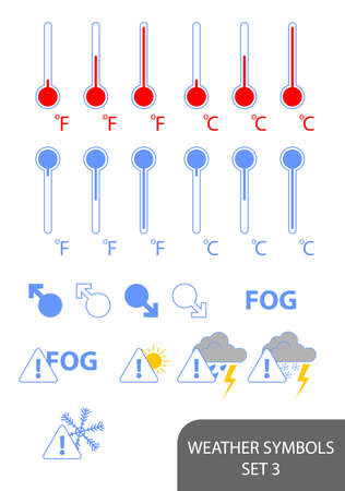 Set of weather symbols. Available in jpeg and eps8 formats. Stock Vector - 5664546