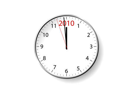 New Year clock design. Available in jpeg and eps8 formats. Stock Vector - 5691373