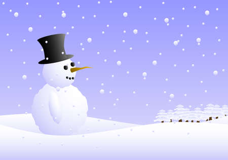 Illustration of a snowman. Available in jpeg and eps8 formats. Vector