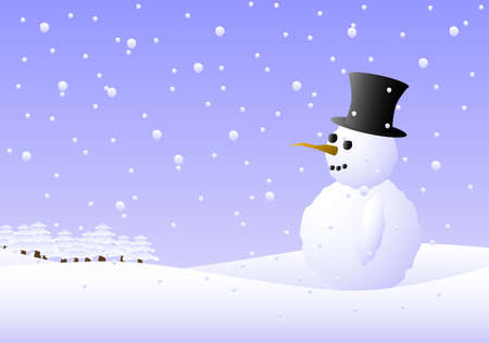 Illustration of a snowman. Available in jpeg and eps8 formats. Stock Vector - 5779284