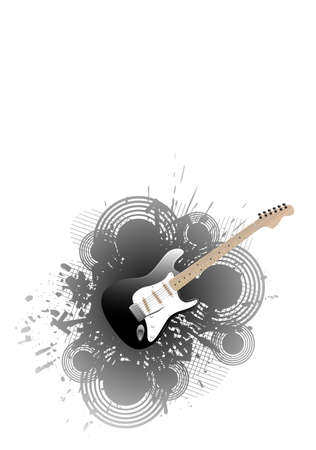 Music design with a guitar. Available in jpeg and eps8 formats.