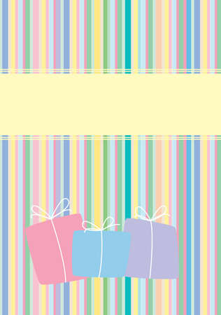 Presents design with stripes. Available in jpeg and eps8 formats. Stock Vector - 5779282