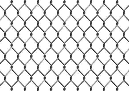Ilustraci�n de una valla de enlace de la cadena. Disponible en los formatos jpeg y eps8.