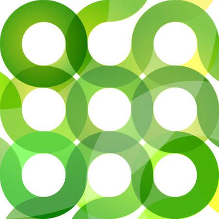 Abstract circle design in green Stock Vector - 7749810