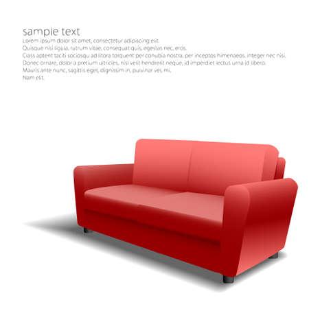 Red sofa design in eps10