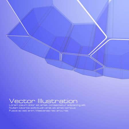 Dise�o de hex�gono abstracta para su uso como un fondo
