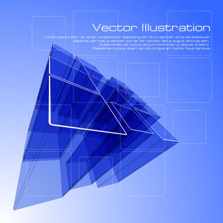 Abstract squares design for use as a background Vector