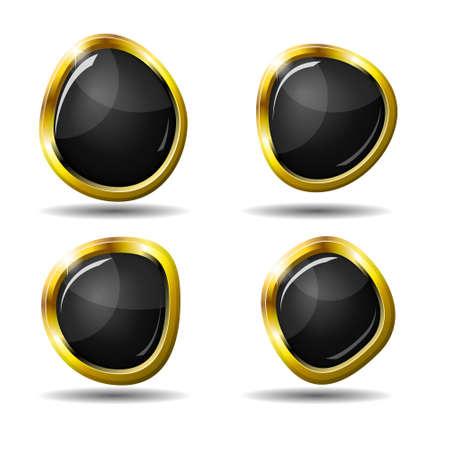 Conjunto de 4 botones web brillante en eps10 Vectores