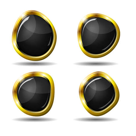 Set of 4 glossy web buttons in eps10