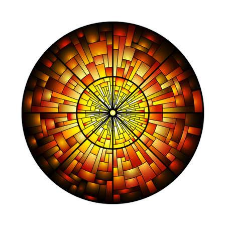 vetrate artistiche: Illustrazione di una vetrata Vettoriali