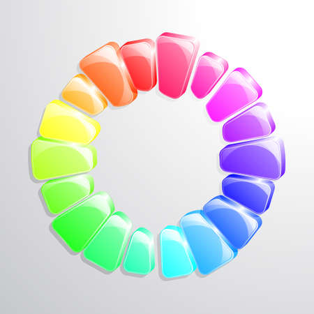 colour wheel: Colour wheel illustration. Transparencies used in overlay ans soft light modes. Illustration