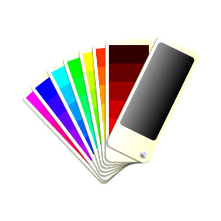 color swatch book: Colour chart design  Transparencies used in screen and multiply modes.