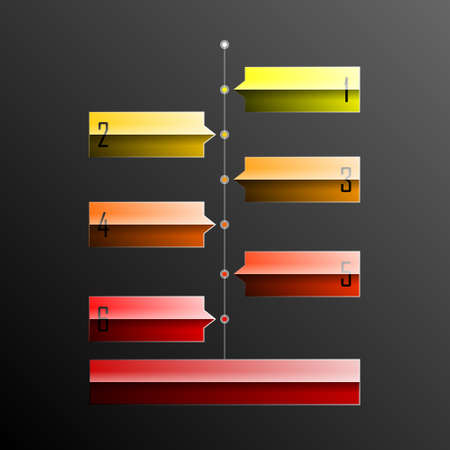 Timeline graphic in eps10 format. Transparencies used in screen and multiply modes. Vector