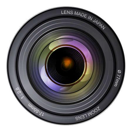 camera lens: Illustration of a camera lens.
