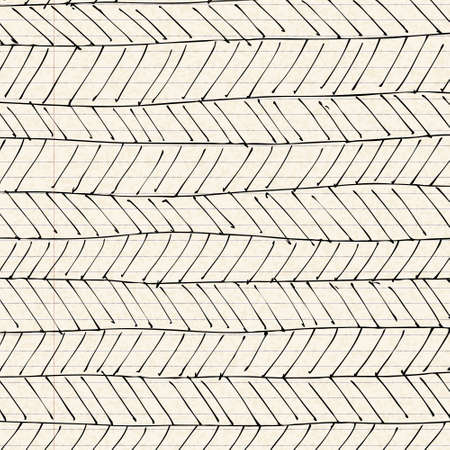 lined paper: Hand drawn patterns on a sheet of lined paper Illustration