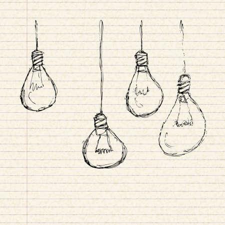 Illustration of a blank sheet of lined paper Illustration