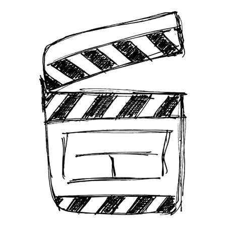 clap board: Esbozo simple de una tarjeta de la palmada Vectores