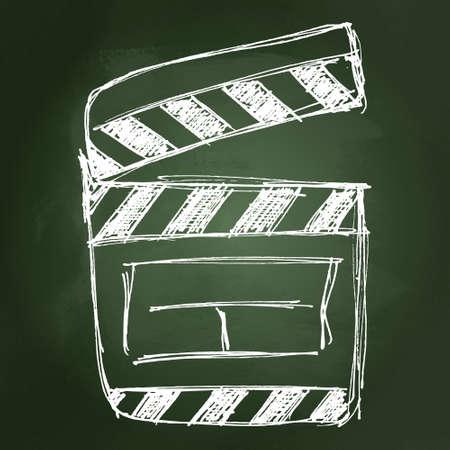 clap board: Simple rough sketch of a clap board