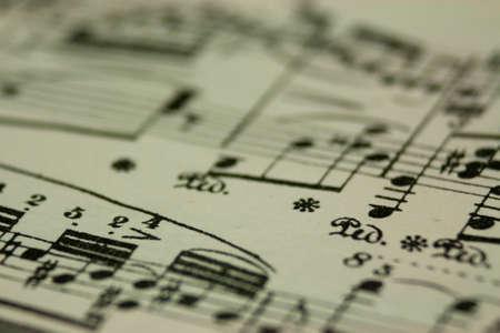 sonata: Close up of notes on sheet music Stock Photo