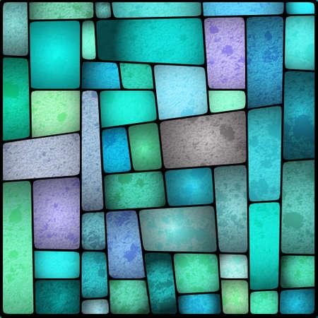 Illustratie van een heldere en kleurrijke glas galss venster Stock Illustratie
