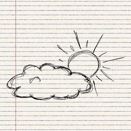 Hand drawn illustration of a weather symbol