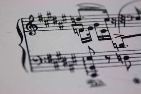 Close up of notes on sheet music Standard-Bild