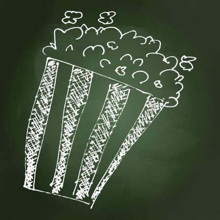 Hand drawn cartoon style popcorn bucket design