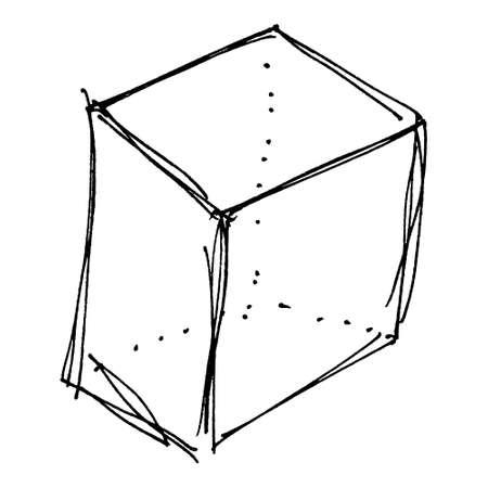 box design: Hand drawn cartoon style box design Stock Photo