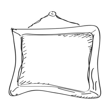 Simple hand drawn doodle of a picture frame Illustration