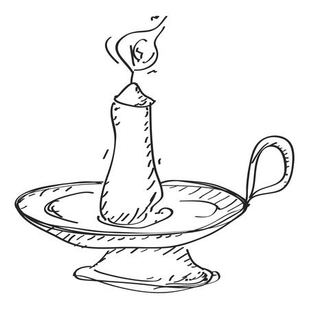 candlestick: Simple hand drawn doodle of a candlestick Illustration