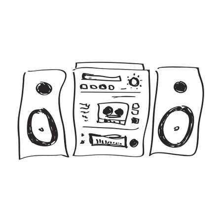 hifi: Simple hand drawn doodle of a hifi